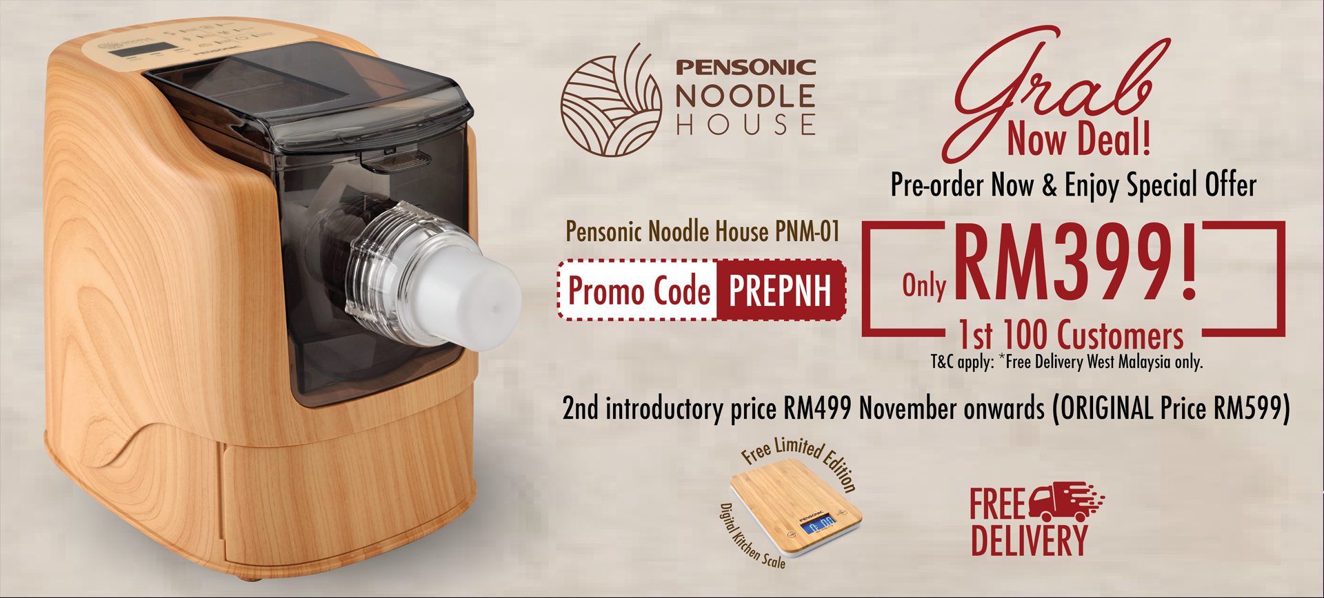 Pensonic Noodle house Preoder