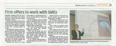 Firm offers to work with SMEs