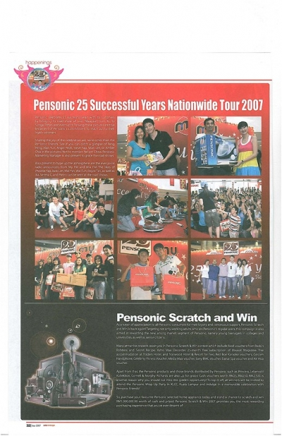 Pensonic 25 Successful Years Nationwide Tour