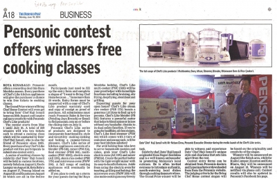 Pensonic Contest offers winners free cooking classes