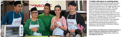5 Celebs add spice to cooking show