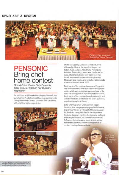 Pensonic Bring chef home contest