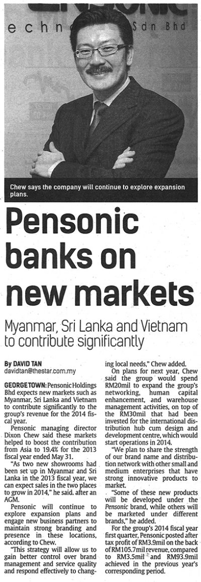 Pensonic Banks on New Markets | The Star