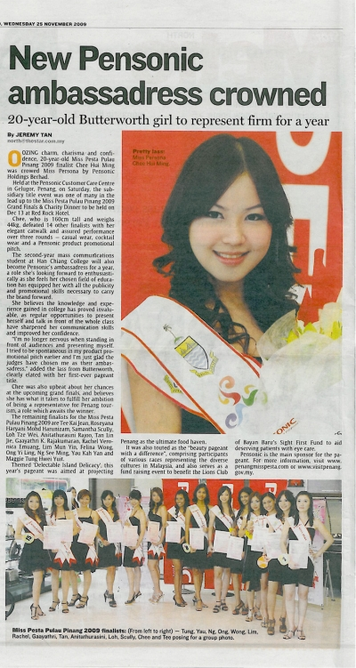 New Pensonic Ambassadress crowned