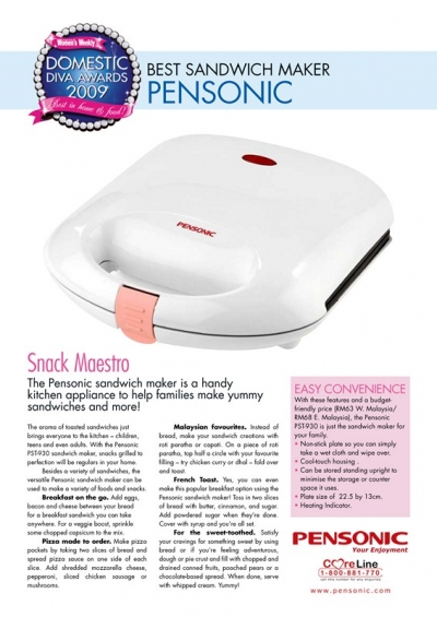 Pensonic Best Sandwich Maker