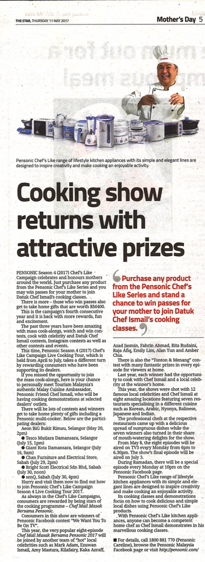 Cooking Show with Returns Attractive Prizes