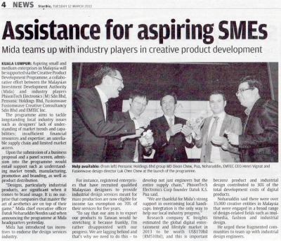 Assistance for aspiring SMEs